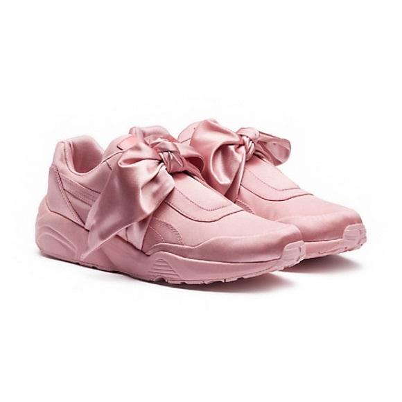 Fenty X Rihanna Bow Sneakers Baby Pink